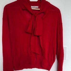 Red Zara Knit Sweater